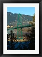 Framed British Columbia, Vancouver, Lion's Gate Bridge