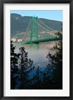 Framed British Columbia, Vancouver, Lion's Gate Bridge over Fog