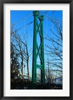 Framed British Columbia, Vancouver, Lion's Gate Bridge Tower