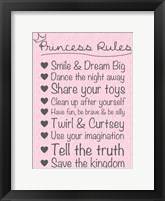 Framed Princess Rules Soft