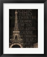 Framed Burlap Paris