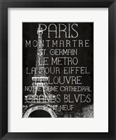 Framed Black & White Paris