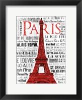 Framed Paris White & Red