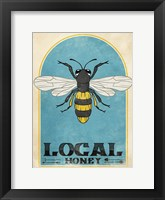 Framed Retro Bee