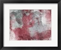 Framed Abstract Marsala Grey