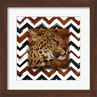 Framed Cheetah with Chevron Border