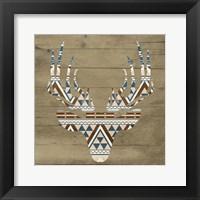 Aztec Deer Framed Print