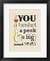 Bushel & Peck 1 Framed Print