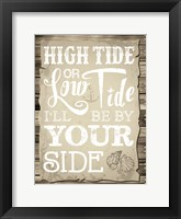 Coastal Love Brown 02 Framed Print