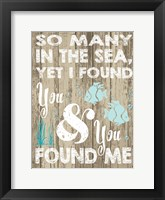 Coastal Love Brown 06 Framed Print