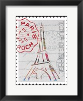 Postcards from Paris marbled 01 Framed Print