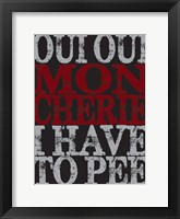 Framed Oui Oui Typography 01