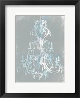 Framed Blue Grey Chandelier