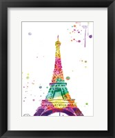 Framed Eiffel Watercolor