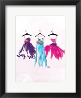 Watercolor Dresses I Framed Print