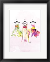 Watercolor Dresses III Framed Print