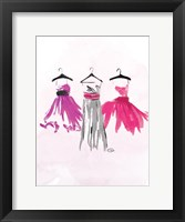 Watercolor Dresses IV Framed Print