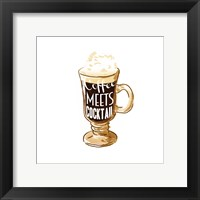 Coffee Meets Cocktail Framed Print