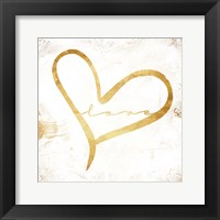 Simple Love (white) Framed Print