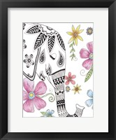 Framed Tribal Elephant Portrait