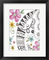 Tribal Elephant Portrait 2 Framed Print