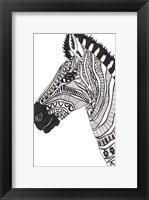 Lone Zebra Framed Print