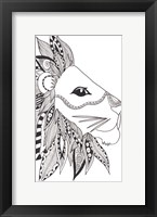 Lone Lion Framed Print