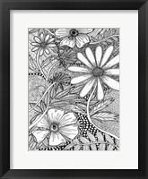 Framed Wild Daisys