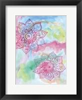 Watercolor Blooms 2 Framed Print