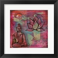 Framed Buddha Lotus