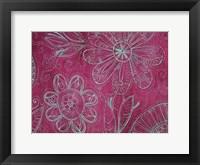 Framed Floral on Pink