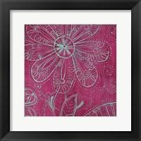 Framed Pink Floral