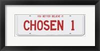 Framed Chosen 1 License Plate
