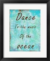 Framed Ocean Music