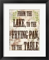 Lake Dinner Framed Print