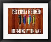 Framed Hooked On Fishing