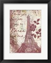 Framed Marsala Romance
