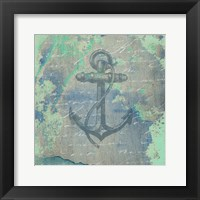 Nautical Watercolor Framed Print