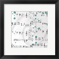 Framed Painted Music
