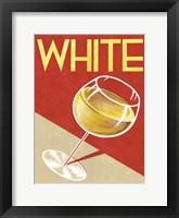 Retro White Framed Print