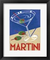 Framed Retro Martini