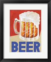 Framed Retro Beer