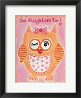 Framed Owl Always