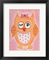 Framed Orange Owl