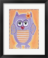 Framed Purple Owl