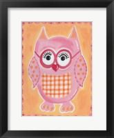Framed Pink Owl