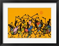 Framed African Dance