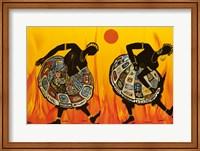 Framed Two Dancing Women