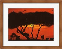 Framed Evening Mood with Two Warriors