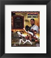 Framed John Smoltz MLB Hall of Fame Legends Composite